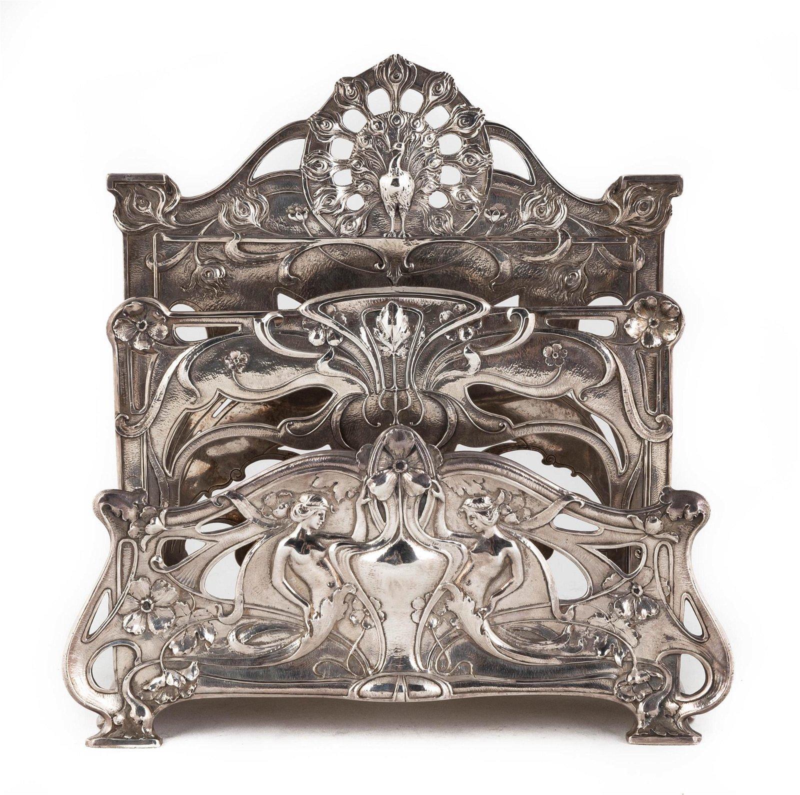 Gorham Sterling Silver Art Nouveau Letter Holder