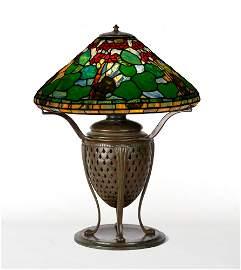 "Tiffany Studios, New York, ""Geranium"" Table Lamp"