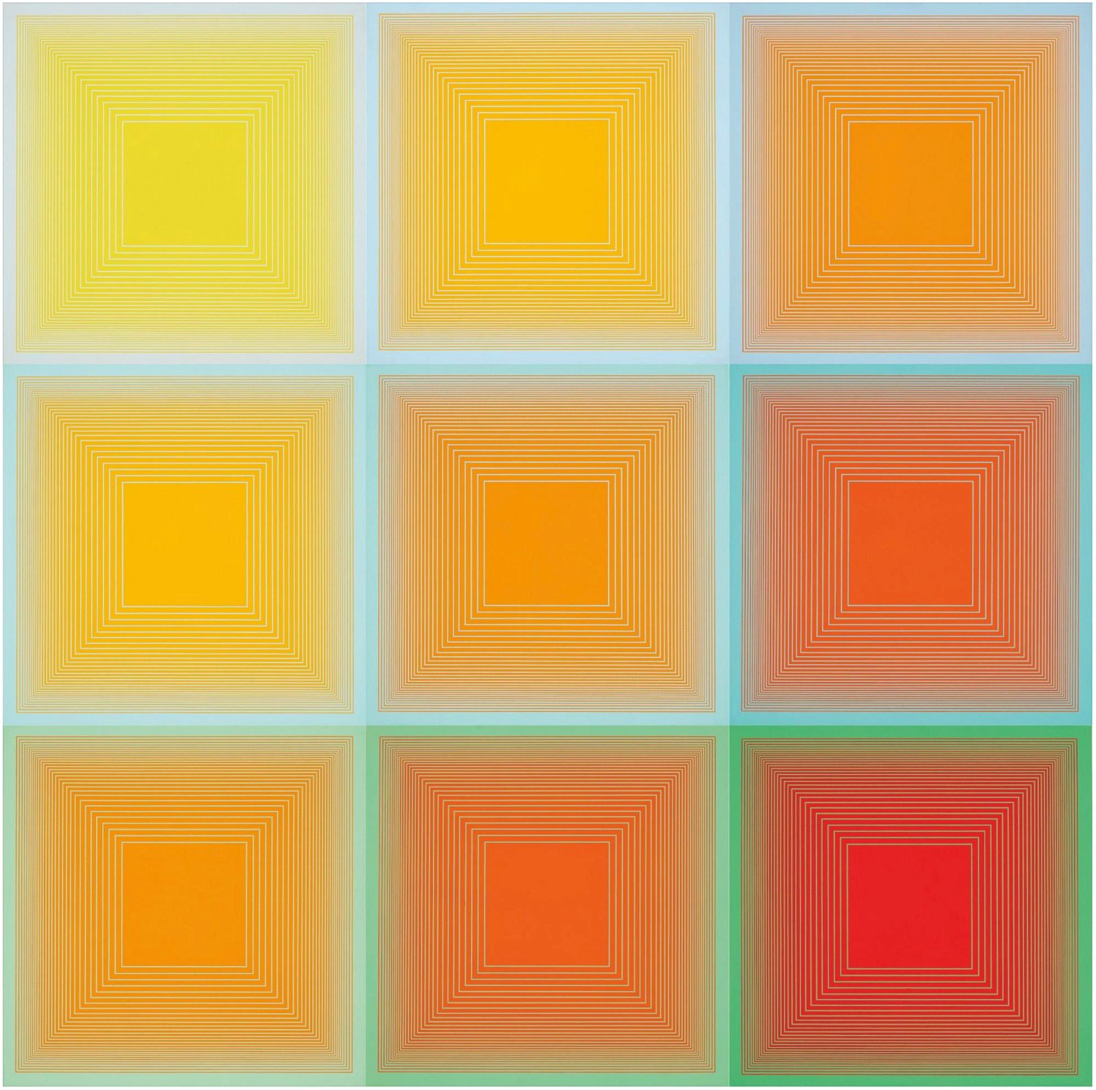 Richard Anuszkiewicz (b. 1930) Spectral 9 - A Variable