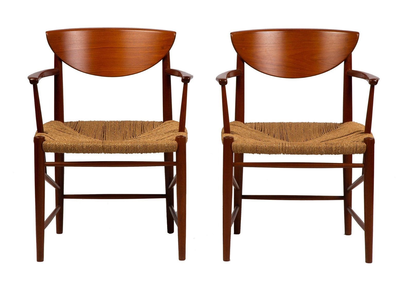 Pair of Peter Hvidt Papercord Chairs
