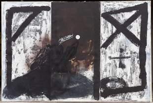 Antoni Tapies (Spanish, 1923-2012) Triptych
