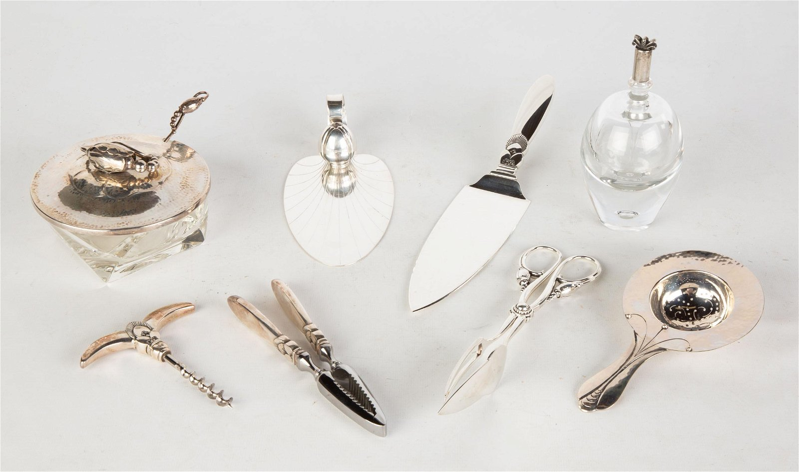 Georg Jensen Sterling Serving Pieces and Table
