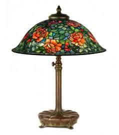 A Fine and Rare Tiffany Studios, NY Rose Table Lamp