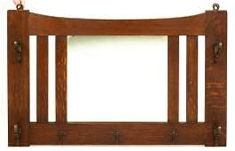 Limbert Arts and Crafts Oak Hall Mirror