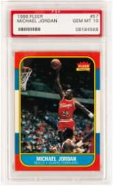 1986 Fleer Michael Jordan #57 PSA Gem Mint 10