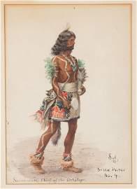 "Julian Scott (American, 1846-1901) ""Sa-mi-wi-ki, Chief"