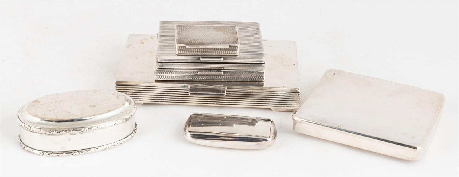 Group Sterling Silver Boxes, Danish, etc.