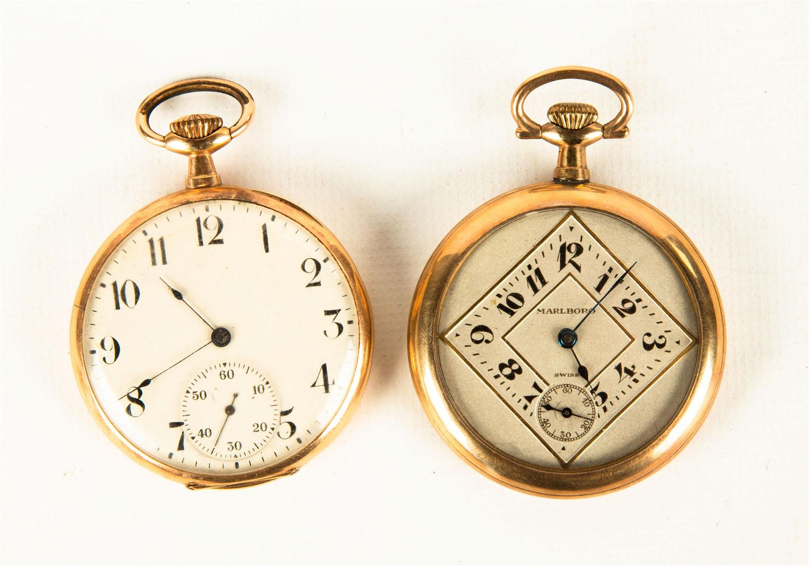 Election Gold Pocket Watch & Raymond Gold Plated Watch