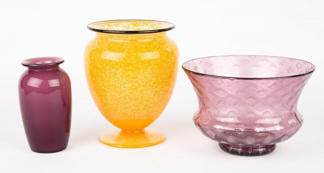 Three Steuben Vases