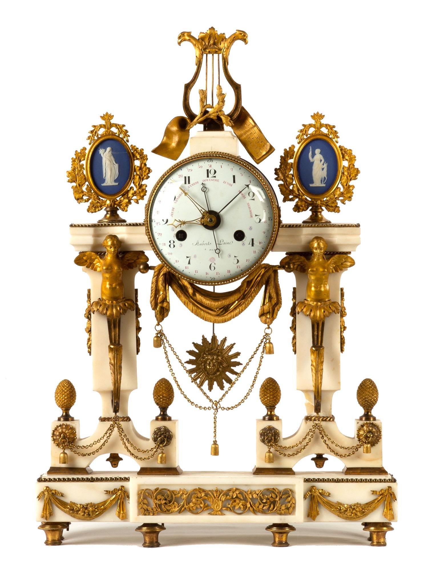 A Louis XVI Ormolu Mantel Clock By Imbert L'aine