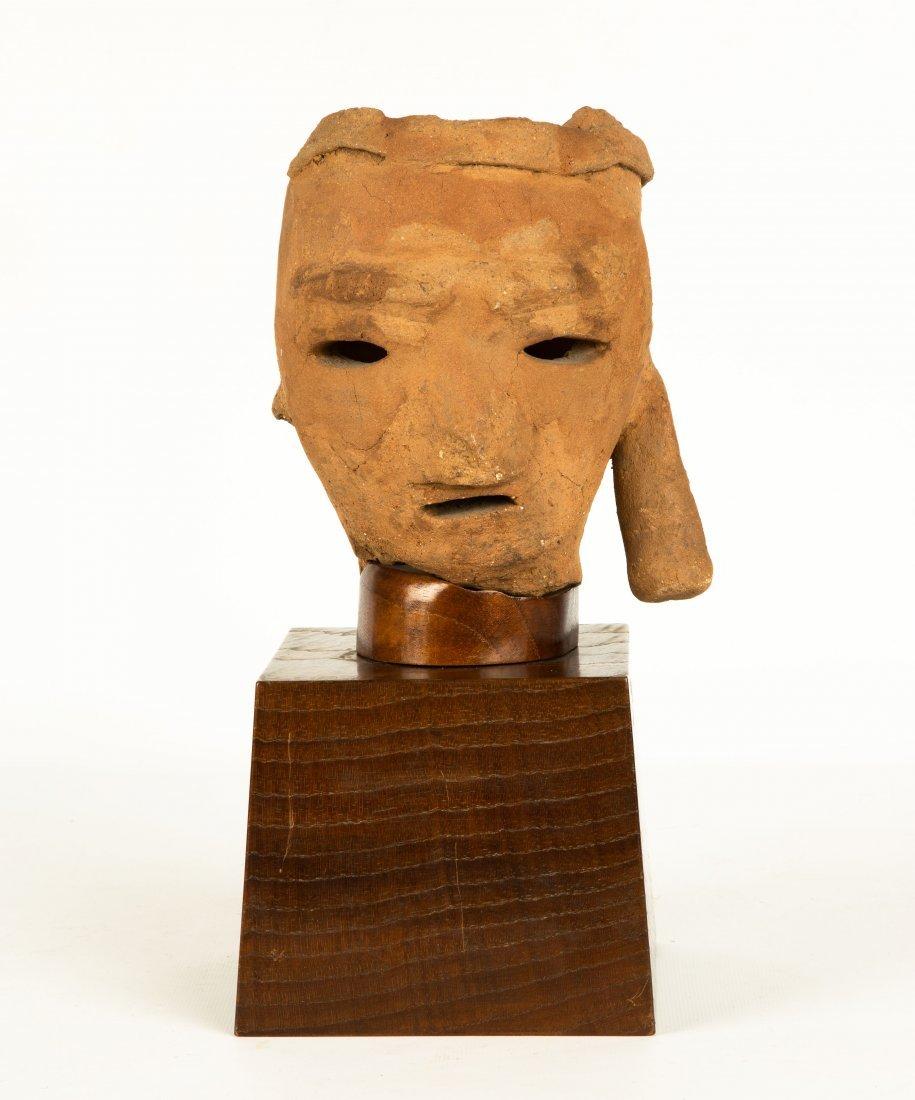 A Japanese Terracotta Haniwa Head