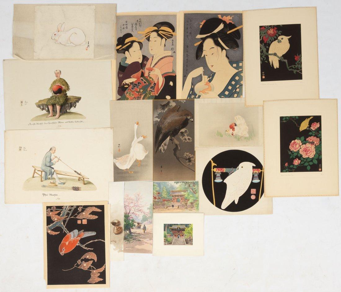 Group of Asian Woodblock Prints