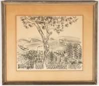 Raoul Dufy (French, 1877-1953) Mediterranean Landscape