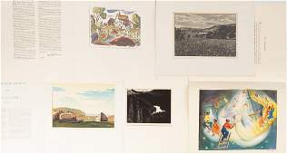Group of Lithographs & Wood Cuts