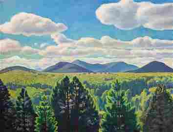 """Rockwell Kent (1882-1971)""""Tree Tops and Mountain Peaks"""""""