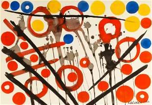"""Alexander Calder (American, 1898-1976) """"Loose Yolks"""""""