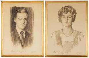 Pair of John Singer Sargent (1856-1925) Portraits
