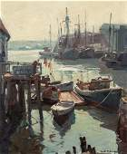 Emile Gruppe 18961978 Low Tide Gloucester Harbor