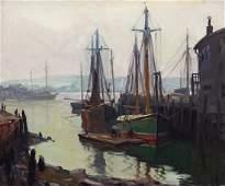 "Emile Gruppe (American, 1896-1978) ""Morning Gloucester"""