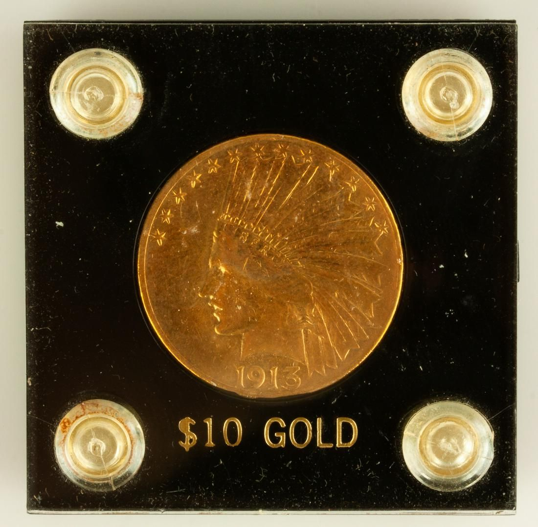 US Indian Head 1913 Gold Coin
