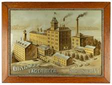 Genesee Brewing Company Reverse Painted Sign