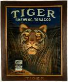 """Tiger Chewing Tobacco"" Lithograph"