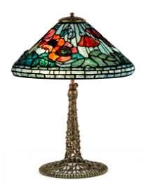 Tiffany Studios, New York, Poppy Table Lamp