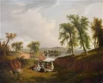 "Thomas Mickell Burnham (American, 1818-1866) ""Picnic on"