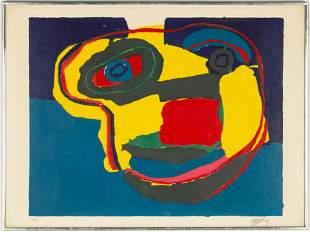 "Karel Appel (Dutch, 1921-2006) ""Flying Head"""