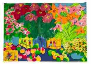 "Walasse Ting (Chinese/American, 1929-2010) ""Nature"