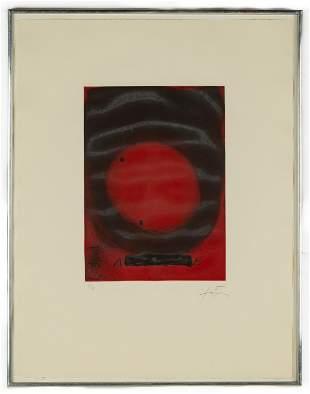 "Antoni Tapies (Spanish, 1923-2012) ""Cercle"""