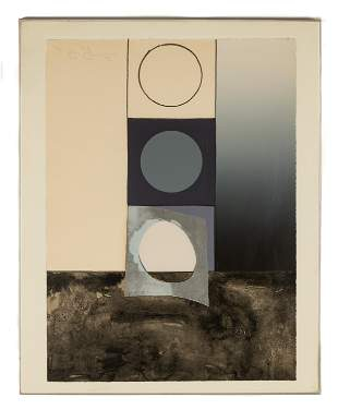 Jasper Johns (American, 1919-2010) Bent Stencil, 1971