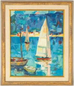"Pierre Bordenave (French, 1900-1970) ""Voilers  en"