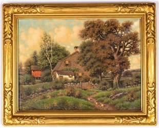 George W. Drew (American, 1875 - 1968)  Cottage Scene