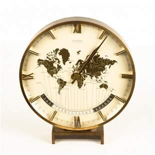 Kienzle Weltzeituhr Modernist World Time Zone Table