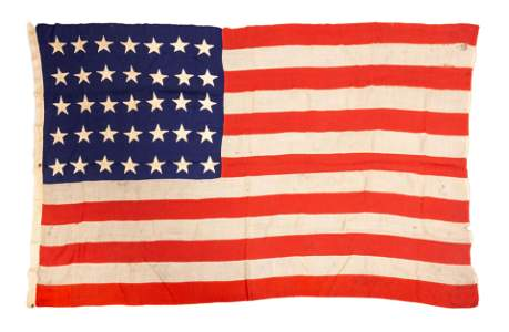 Vintage Civil War 35-Star Flag