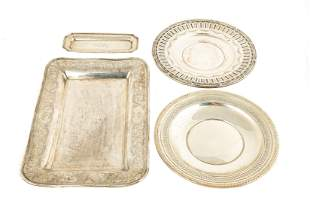 (4) Gorham Sterling Silver Trays