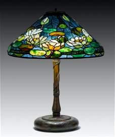 Rare Tiffany Studios, New York Pond Lily Table Lamp