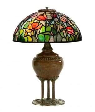 Rare Tiffany Studios, New York Tulip Table Lamp
