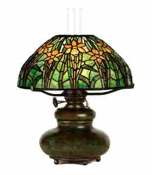 Rare Tiffany Studios, New York Daffodil Table Lamp