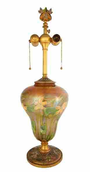 Louis C. Tiffany Furnaces Favrile & Enameled Lamp