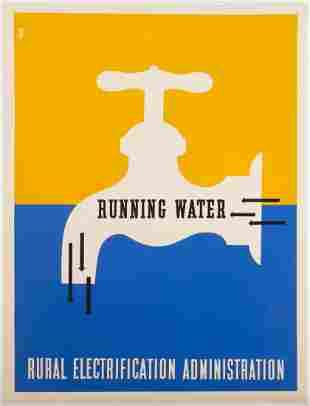 "Lester Beall (American, 1903-1969) ""Running Water -"