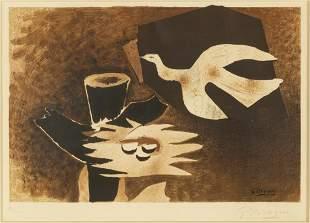 """Georges Braque (1882-1963) """"L'oiseau et son nid (The Bi"""