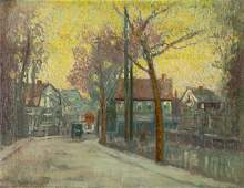 "Paul Cornoyer (American 1864-1923) ""New England"""