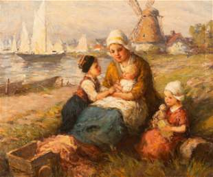 F.G. Grust (Dutch, 19/20th Century) Mother with