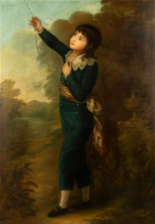 18th/19th Century English Portrait of a Young Boy with