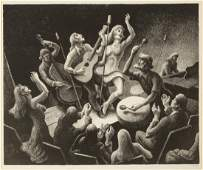 "Thomas Hart Benton (American, 1889-1975) ""Youth Music"""