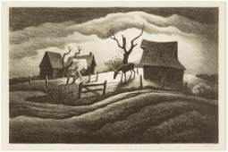 "Thomas Hart Benton (American, 1889-1975) ""Rainy Day"""
