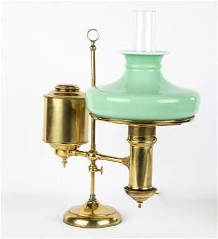 Brass Single Student Lamp