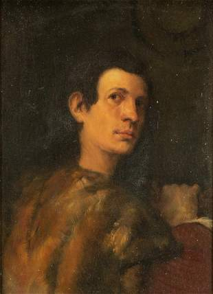 Old Masters Style Portrait of a Young Man after